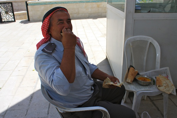 Mosque security guard in Amman, Jordan