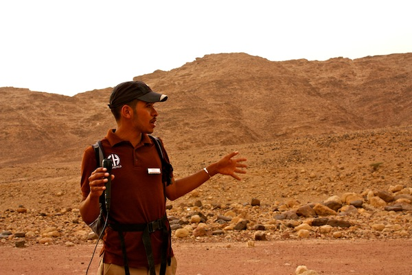 Young Beduoin guide in Dana Nature Reserve in Jordan