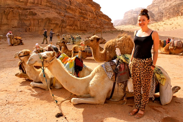 Christine Amorose dressing stylishly in Jordan, Middle East