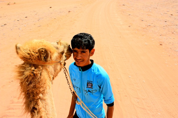 Young camel guide in Wadi Rum, Jordan