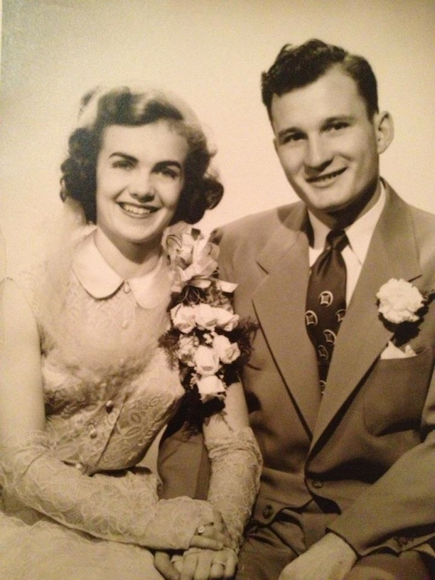Mimi and Poppy Paist on their engagement day