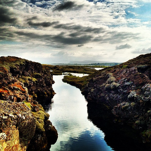Silfra in Pingvellir National Park in Iceland