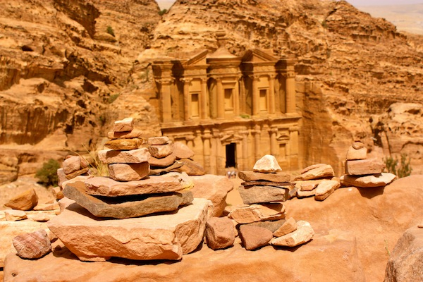 Monastery in the ancient city of Petra in Jordan