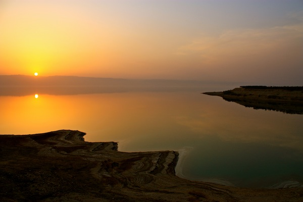 Sunset over the Dead Sea from Jordan