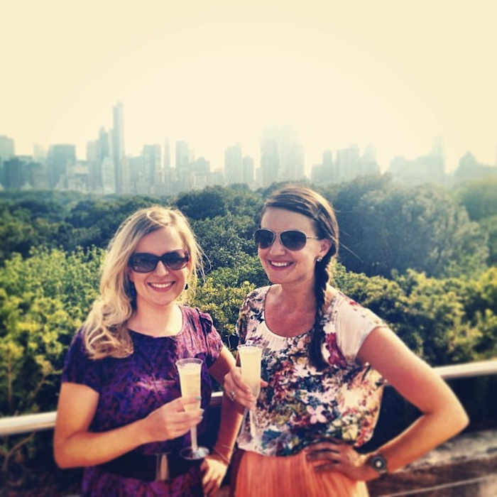 Christine Amorose & Renee Eggers at the Met Rooftop Bar, New York City