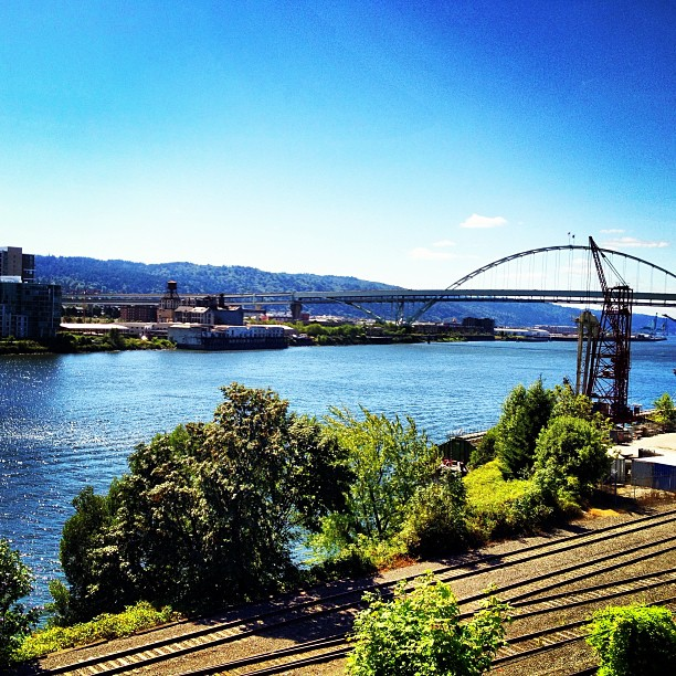 The Willamette River in Portland, Oregon