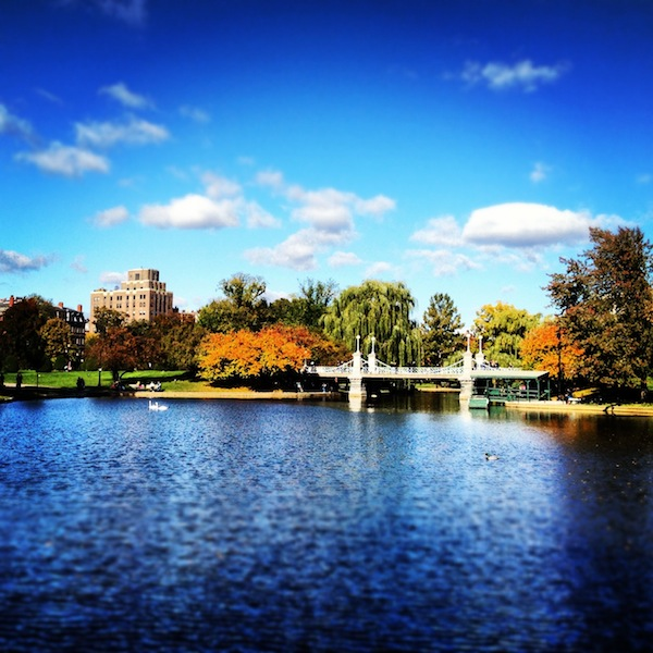 Boston Common on a fall day