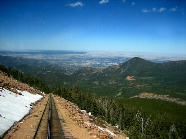 The view of Colorado from Pikes Peak