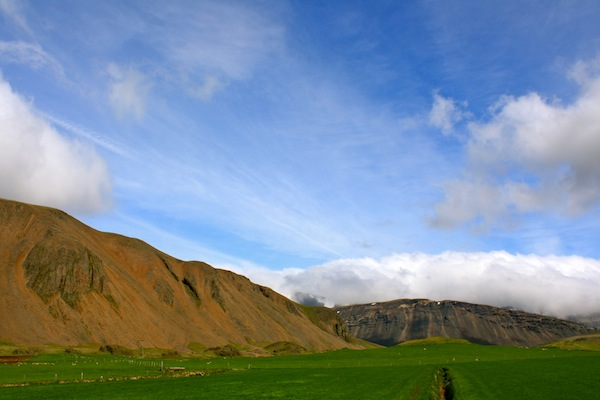 The beautiful town of Hofn, Western Iceland