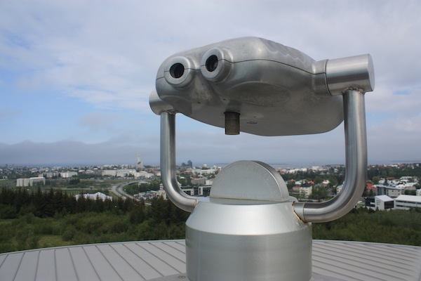 Perlan viewing deck in Reykjavik, Iceland