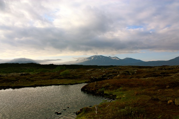 Pingvellir national park on Golden Circle in Iceland