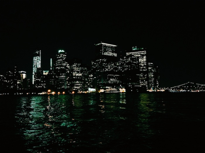 Manhattan at Night on Clipper City, Manhattan by Sail
