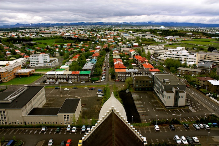 View of Reykjavik from the church, Iceland