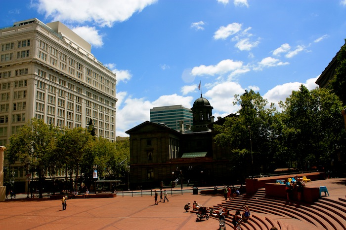 Pioneer Square in Portland, Oregon