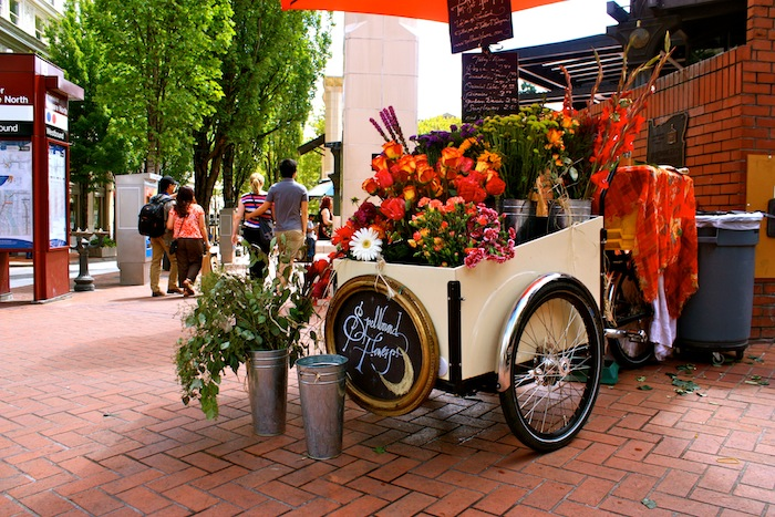 Spellbound Flowers in Pioneer Square in Portland, Oregon