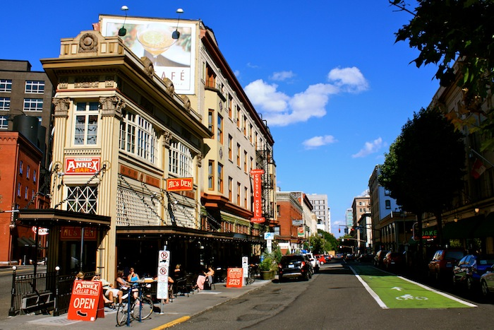 The streets of downtown Portland, Oregon