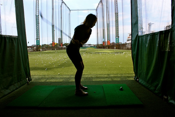 Aly Gill at Chelsea Piers Golf Club, New York City