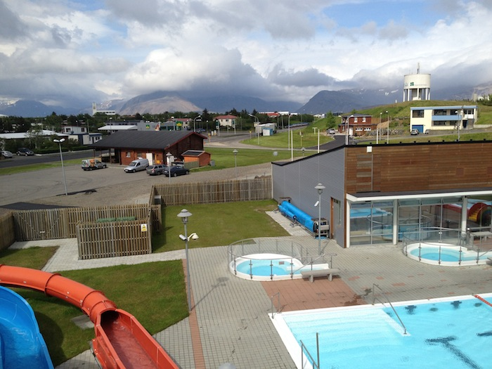 Public swimming pool in Hofn, Iceland