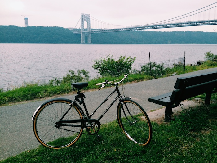 Bike ride on the West Side Highway, New York