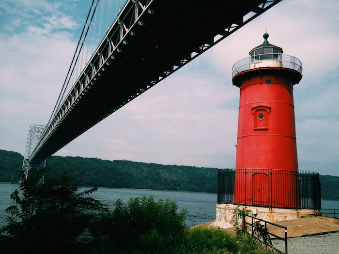 Little red lighthouse on the West Side Highway, New York