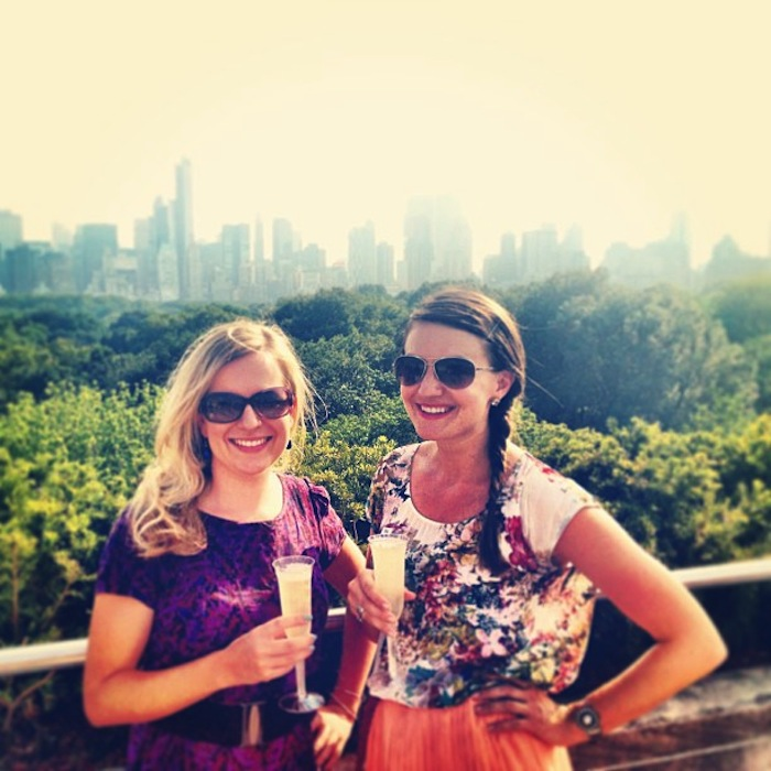 Christine Amorose and Renee Eggers on the Met rooftop