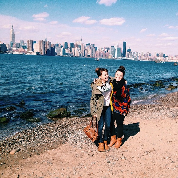 Christine Amorose and Ashly Ogden on the Williamsburg Waterfront