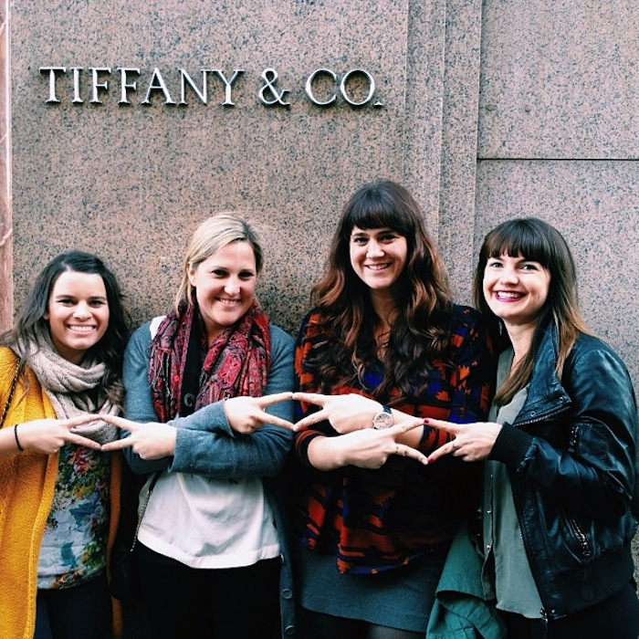 Alpha Delta Pi alumna at Tiffany's in New York City