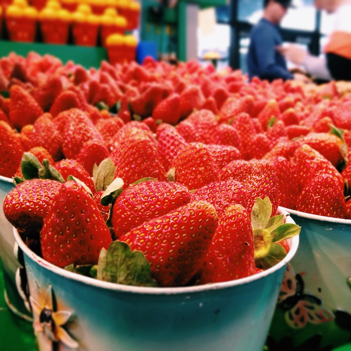 Strawberries at Jean Talon Marche in