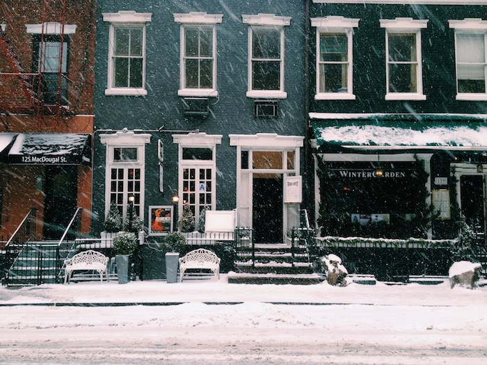 West Village in the snow, Processed with VSCOcam with c1 preset