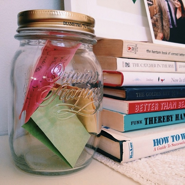 Gratitude practice: Jar of all the good things that happen