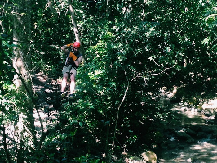 Ziplining at Casa Bonita, Dominican Republic