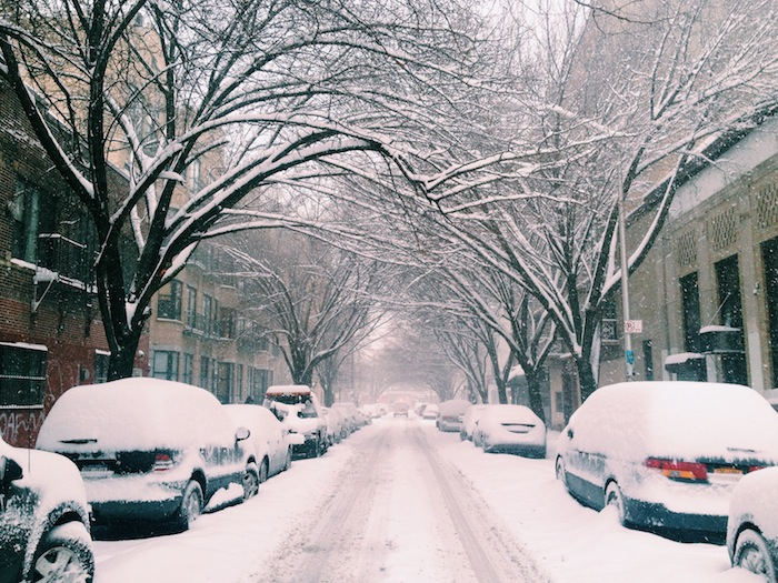 Williamsburg, Brooklyn after a snowstorm