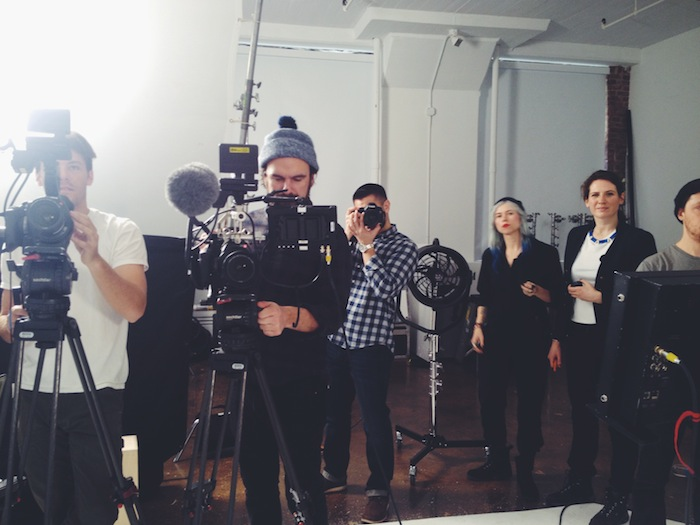 Behind the scenes at the Sally Hansen #ShineOn campaign
