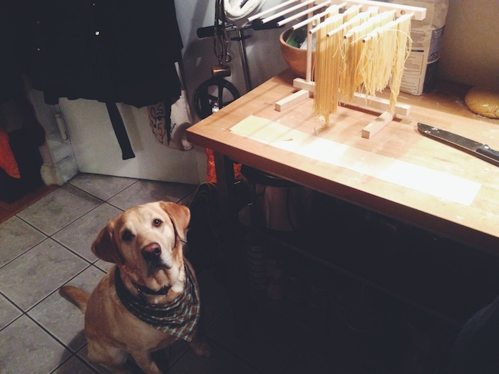 Making homemade pasta in Brooklyn
