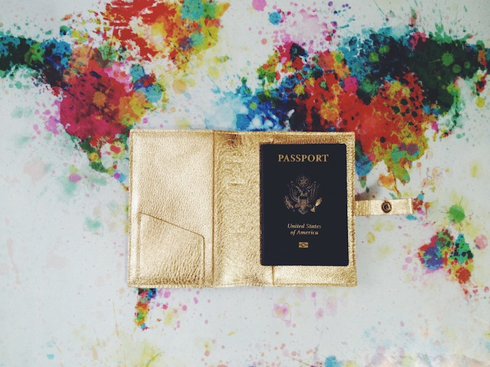 This is Ground gold passport cover