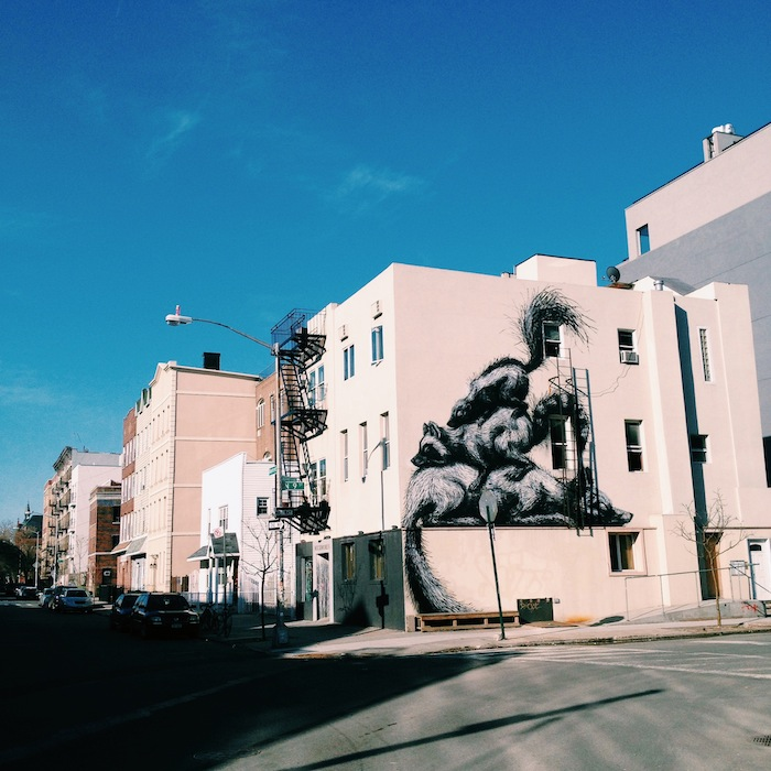 Roa mural in Williamsburg, Brooklyn