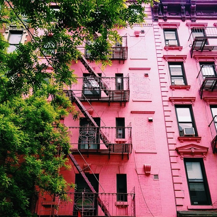 Pink building in SoHo New York City