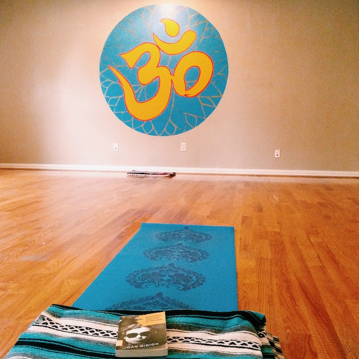 Greenhouse Holistic Yoga studio in Brooklyn with Gaiam Mat