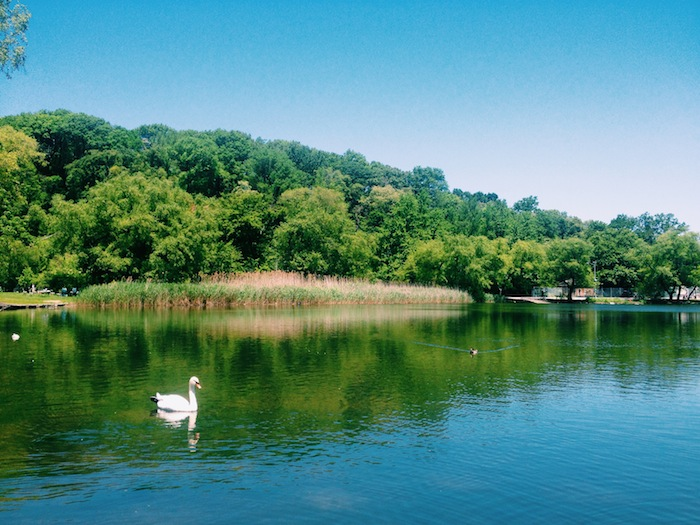 Prospect Park Lake in Brooklyn, New York