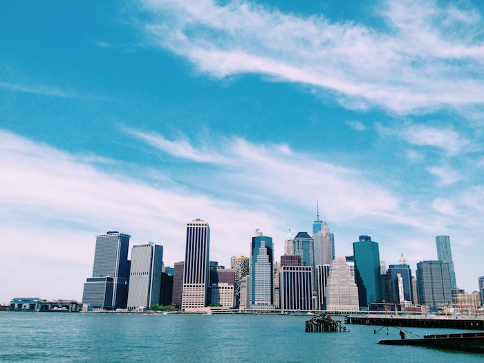 The Manhattan skyline from the Brooklyn Heights Promenade