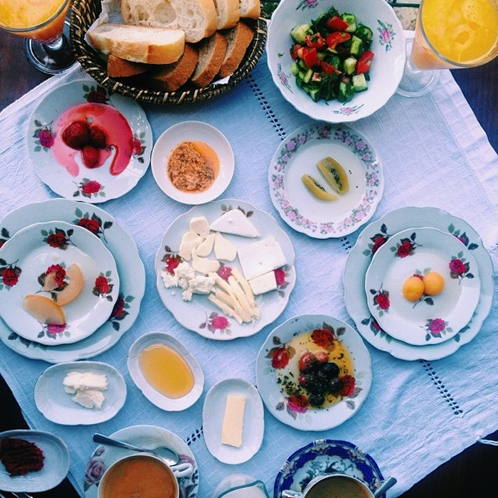 Turkish breakfast at Cafe Privato in Istanbul