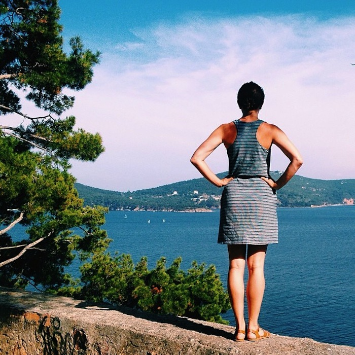 Bridge & Burn dress on Christine Amorose in Turkey