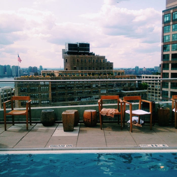 Jimmy at the James Rooftop Pool in SoHo, New York City