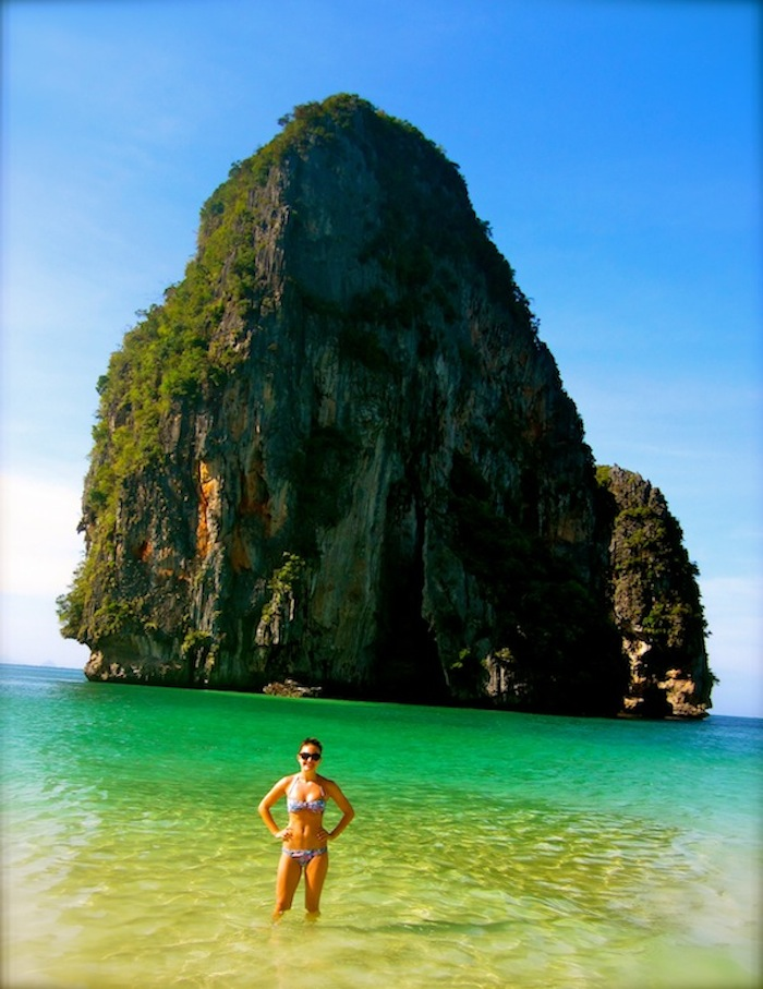 Christine Amorose in Railay, Thailand
