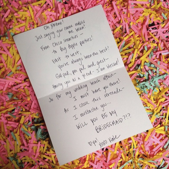 Bridesmaid invitation poem