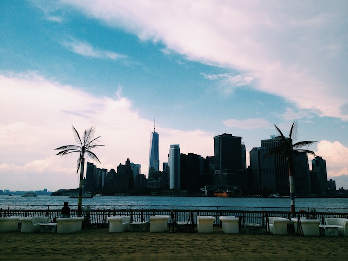 View from Governors Island in New York City