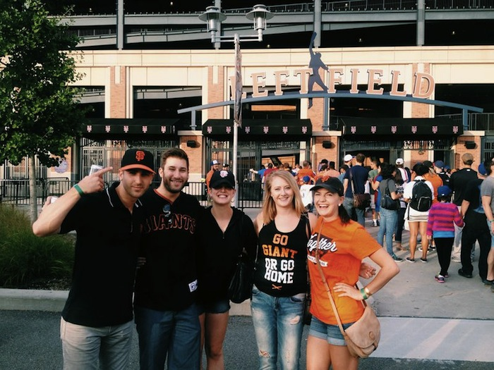 San Francisco Giants fans at the Mets game