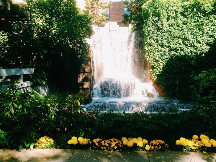 Greenacre Park Waterfall in New York City