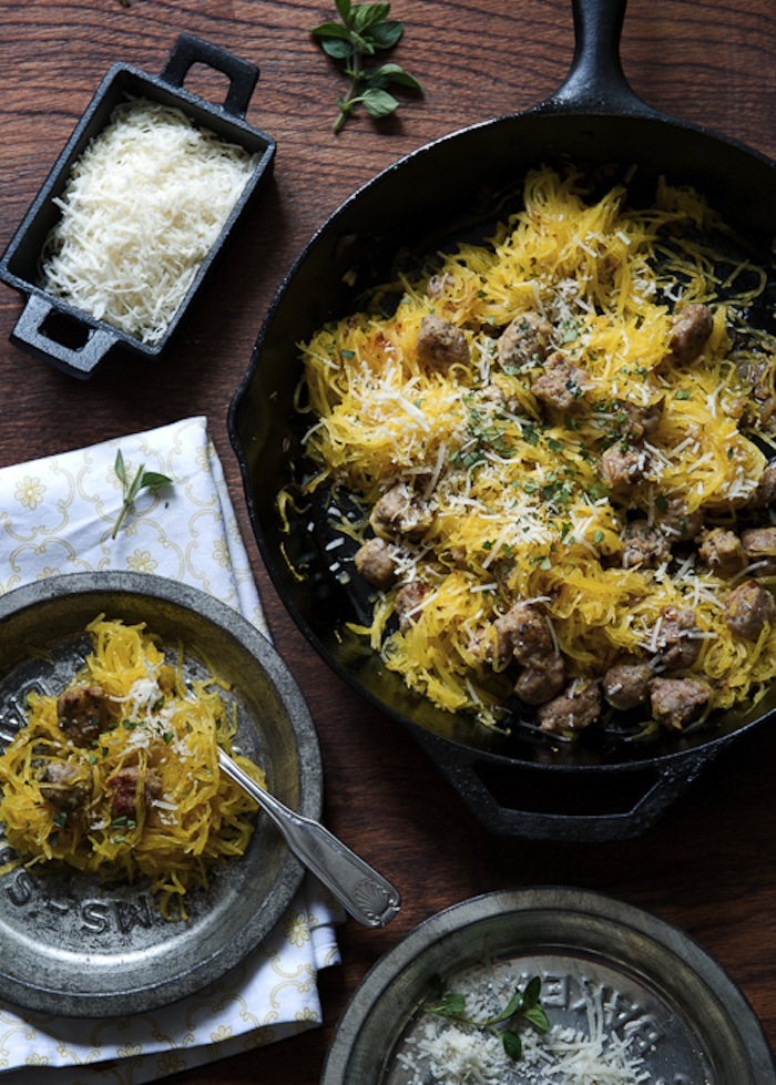 Roasted Spaghetti Squash and Sausage recipe