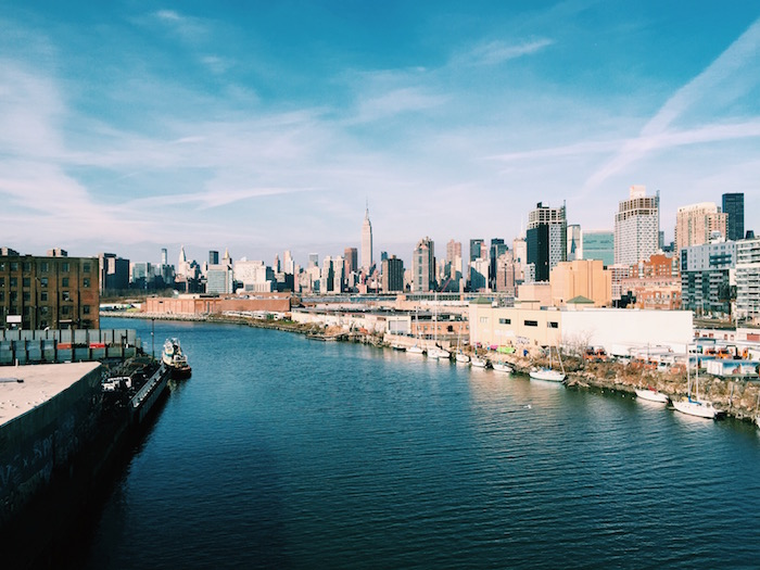 View from Pulaski Bridge in Greenpoint, New York